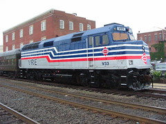 VRE F40PH V33 (Andy961) Tags: railroad train virginia diesel railway va manassas locomotive emd vre f40ph v33 virginiarailwayexpress