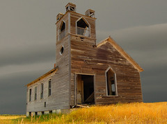 Standing against the storm (j_piepkorn65) Tags: storm abandoned lost decay northdakota ghosttown greatplains