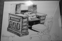 Flannery's desk