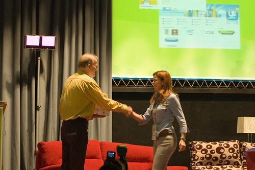 Imagen de la entrega de premios