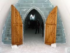 Ice Hotel, entrance