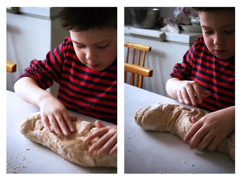 Baking cinnamon buns 1