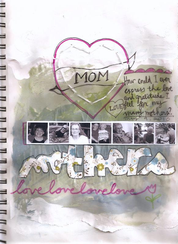 mom's day art journal