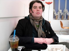 Simon with Bubble Tea