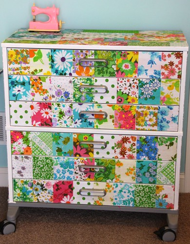 Decoupaged Drawers