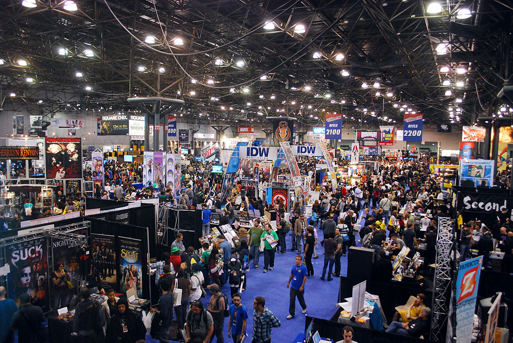 The Exhibitors Hall Featuring Both Anime Fest And Comic Con Booths