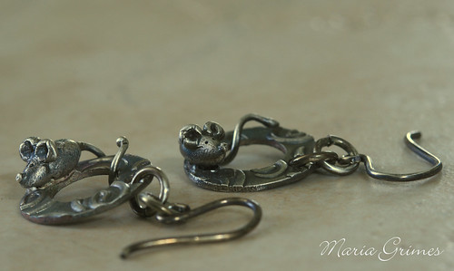 Fine Silver Mice Earrings
