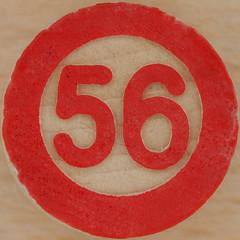 Bingo Number 56 (Leo Reynolds) Tags: canon eos iso100 number squaredcircle lotto 60mm f80 bingo 56 loto housie housey 0125sec 40d hpexif numberset numberbingo houseyhousey xsquarex housiehousie sqset056 bingoset06 xleol30x