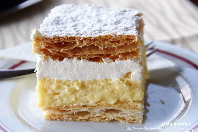 這就是那美味的Kremna Rezina蛋糕!!來到這裡請務必嘗一嘗啊!絕對是讓人難忘的美味!
