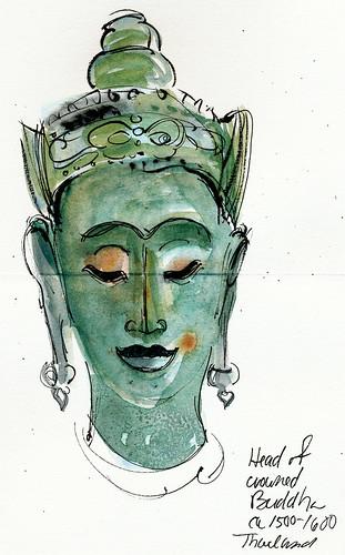 Thai Buddha head, DeYoung Museum, San Francisco
