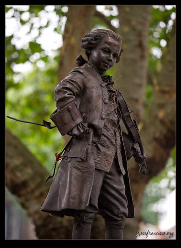 Young Mozart Statue, London