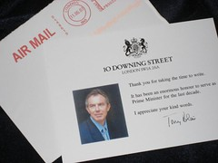 A  quick missive from 10 Downing Street. (06/13/07)