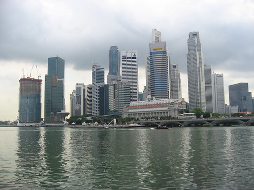Singapore water and skyline