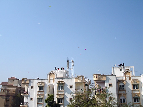 Building next door & kites in the sky