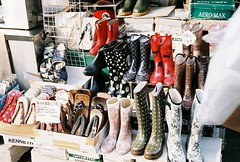for the fashionable fishmonger in all of us (Viv | Seattle Bon Vivant) Tags: japan shopping tokyo fuji boots natura rubber tsukiji fishmarket rubberboots tsukijifishmarket rainboots classica natura1600 naturaclassica fujinaturaclassica