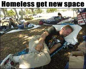 The Ontario Homeless have a new place to live