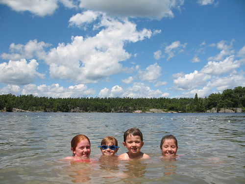 Swimming at Charleston Lake