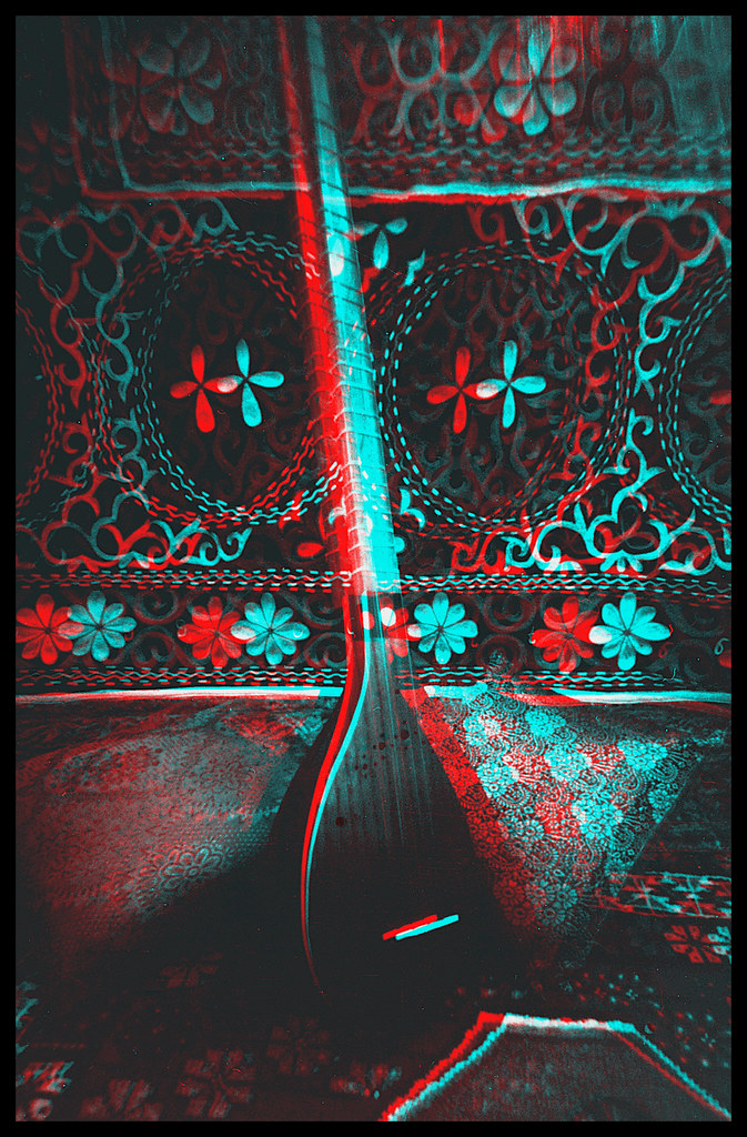 Persian Setar. *** stereo pinhole anaglyph 3-d