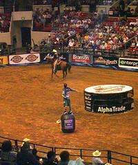 (.emily.) Tags: horse cowboy singing audience clown crowd barrel rodeo pbr tulsa bullriding bullpen barrelman flintrasmussen builtfordtoughseries
