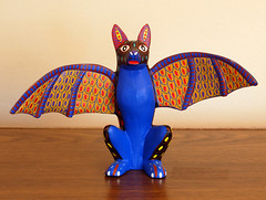Blue Bat (Teyacapan) Tags: art animals folk crafts artesanias mexican oaxaca bats alebrijes zapotec