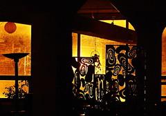 The warehouse (sidewalk flying) Tags: longexposure sculpture orange streetlights katherine warehouse blinds swirly oliverstreet