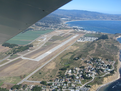 Approaching Half Moon Bay Airport