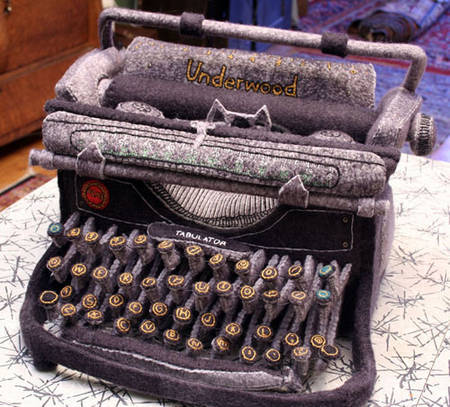 Felt Underwood Typewriter