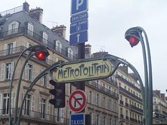 Louvre-Rivoli Metro Sign
