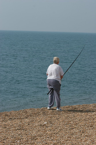 Fishing on chesil beach