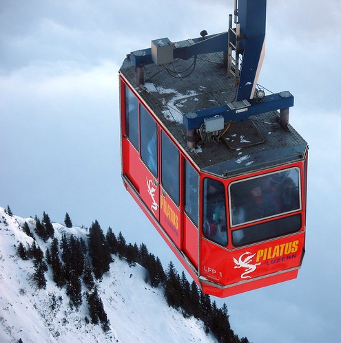 Large cable tram to Pilatus