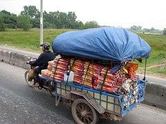 Motorbike with load