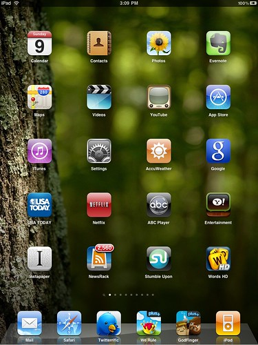 iPad home screen 1