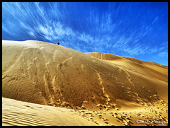 The World's Largest Desert ! (Bashar Shglila) Tags: trip sky sahara clouds sand desert dunes smooth libya wadi      alhaya awbari