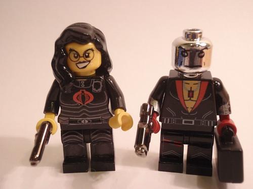 The Baroness & Destro custom minifigs