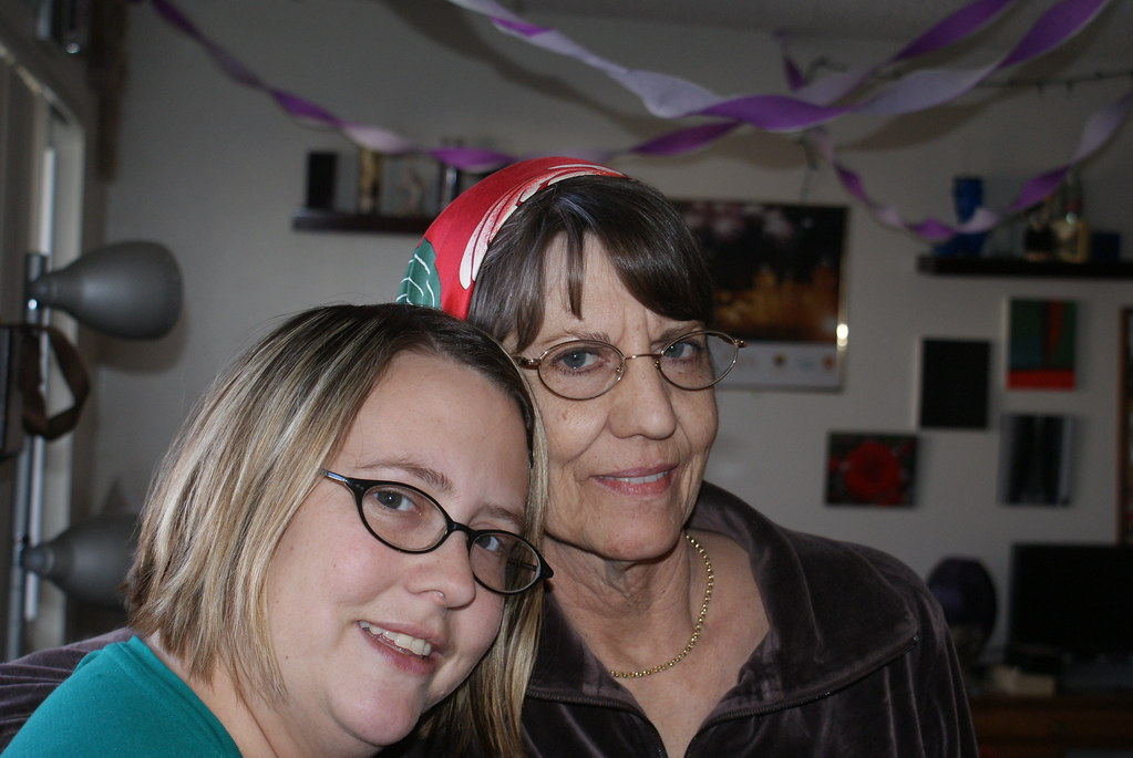 amanda gordon and her mom judy hunt hug each other inside an apartment in lakewood colorado