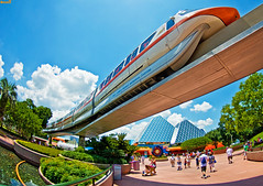 Fishy Monorail (Tom.Bricker) Tags: fish orlando epcot nikon technology florida disneyland disney fisheye disneyworld mickeymouse learning knowledge pavilion wdw waltdisneyworld epcotcenter themepark informative waltdisney worldshowcase futureworld orlandoflorida d90 5photosaday disneypictures tokinafisheye nikond90 disneyphotos disneyphotography wdwfigment tombricker 21stcenturybeganin1982