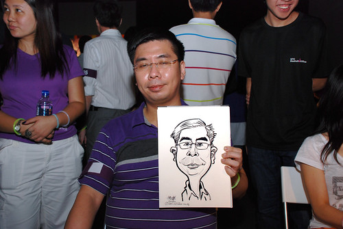 caricature live sketching for SDN First Anniversary Bash - 16