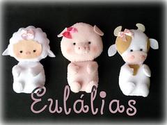 Bichinhos da Fazenda (Eullias Ateli - Luciana) Tags: fazenda vaquinha porquinha ovelhinha mascotinhos