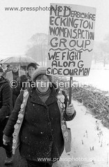 85010733 (Martin Jenkinson Images) Tags: uk greatbritain england people woman white monochrome female support women unitedkingdom derbyshire group womens aid solidarity photograph 1984 gb conflict strike british 1985 num miners 8485 gbr dispute 826 whitewomen whitewoman minersstrike industrialdispute womenssupportgroup womenssupport martinjenkinsonwwwpressphotoscouk