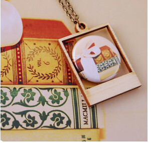 Book Lover's Polaroid Necklace