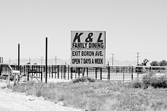 Exit Boran Ave (Thomas Hawk) Tags: california bw usa unitedstates desert unitedstatesofamerica mojavedesert boron kerncounty