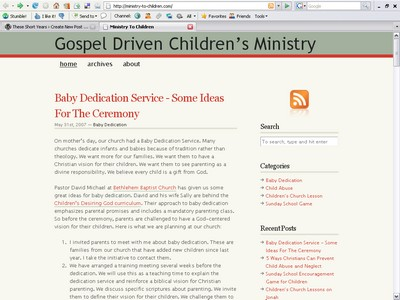Children Ministry Website