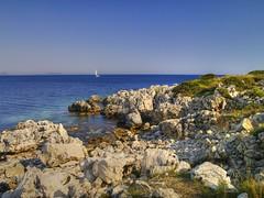 View from Kastos (Pete_Aston) Tags: blue sea sun beach ed island rocks mediterranean sailing hellas olympus greece zuiko hdr ionian zd fourthirds photomatix kastos tonemapping e400 43rds 1442mm
