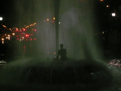 Rain & Fountain - by Michael Cory