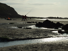 Fishermen at Low Tide