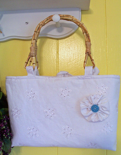 Linen Wedding Tote