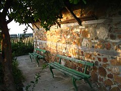 church benches (miss biliana) Tags: bulgaria blacksea ahtopol