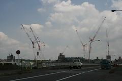 Many cranes, Japan, Nagoya (Steve-kun) Tags: japan shrine jp nagoya  aichi japan  flickrcom stephendraper httpwwwflickrcomgroupsforeveryone nagoyacity  templesshrinescastlesofjapan stevedraperpictures draperphotography stephendraperphotography  flickrjp flickrflickr jpcom