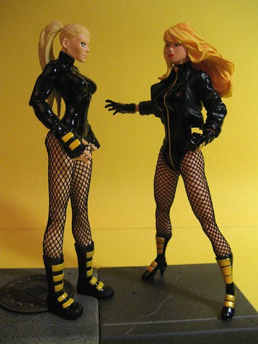 Bad Black Canary figure | Good Black Canary Figure