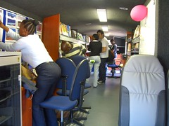 mobile library bus - interior